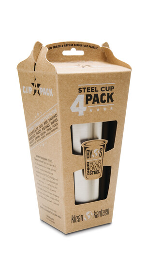 Klean Kanteen Steel Cup 295ml 4er Pack brushed stainles